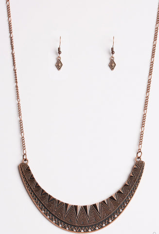 Paparazzi Accessories - Thrown To The Lions - Copper - Necklaces