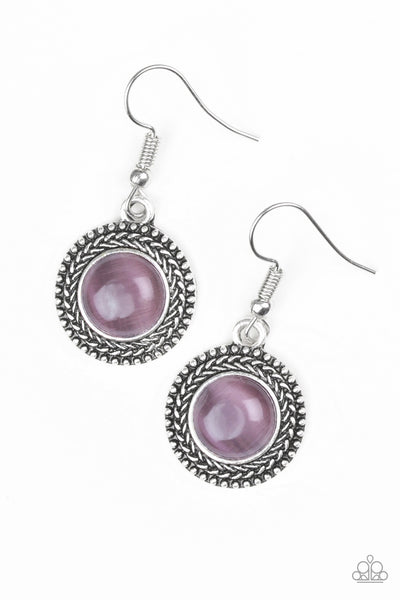 Paparazzi Accessories - Paparazzi Time To GLOW Up! Purple Moonstone Earring - Earrings