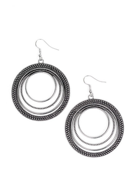 "Paparazzi Accessories - Paparazzi ""Totally Textured"" - Copper - Earrings"