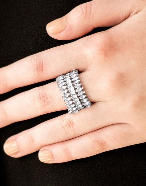 "Paparazzi Accessories - Paparazzi ""Treasury Fund"" - Red Rhinestone Ring - Rings"
