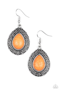 "Paparazzi Accessories - Paparazzi Earring - ""Tribal Tango"" - Orange - Earrings"