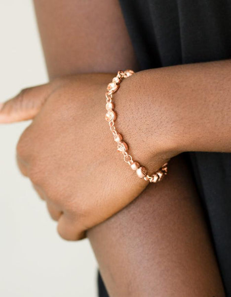 "Paparazzi Accessories - Paparazzi ""Twinkle Twinkle Little STARLET"" - Copper - Bracelets"