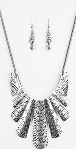 Paparazzi Accessories - Paparazzi Necklace - Untamed - Silver - Necklaces