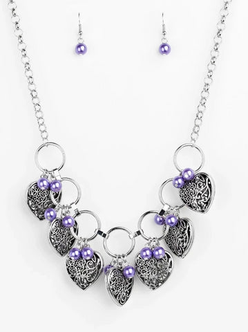 "Paparazzi Necklace ""Very Valentine"" - Purple"