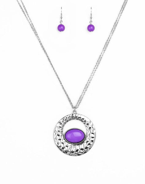 Paparazzi Accessories - Viva Vivacious - Purple - Necklaces