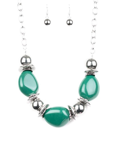 "Paparazzi Accessories - Paparazzi ""Vivid Vibes"" - Green - Necklaces"