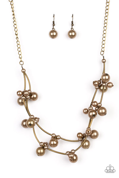 Paparazzi Accessories - Paparazzi Necklace - Relaxation - Brass - Necklaces