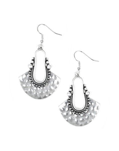 "Paparazzi Accessories - Paparazzi ""When In Cusco"" - Silver - Earrings"
