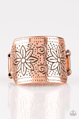 Wild Meadows | Copper | Floral Paparazzi Ring
