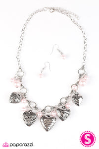 Paparazzi Accessories - Paparazzi Necklace - With All Your Heart - Pink - Necklaces
