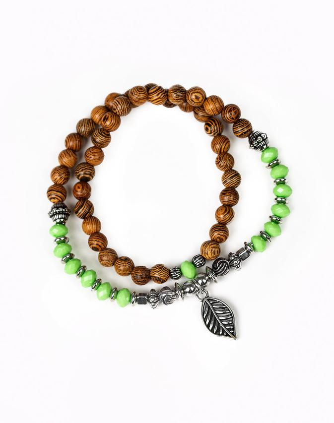 "Paparazzi Accessories - Paparazzi ""Wonderfully Woodland"" - Green Bracelet - Bracelets"