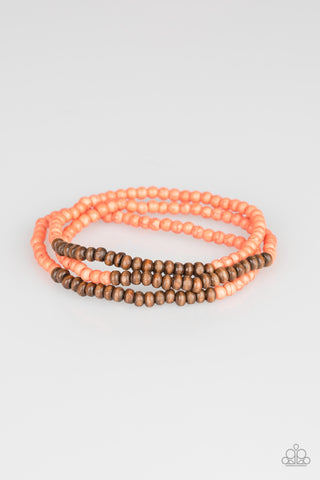 "Paparazzi Accessories - Paparazzi ""Woodland Wanderer"" - Orange - Bracelets"