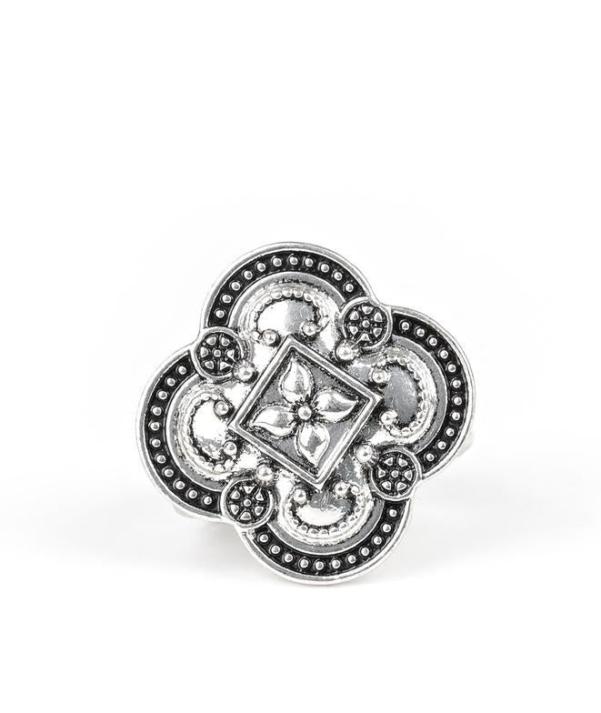 Paparazzi Accessories - Paparazzi Your Royal Rogue-ness - Silver Antiqued Ring - Rings