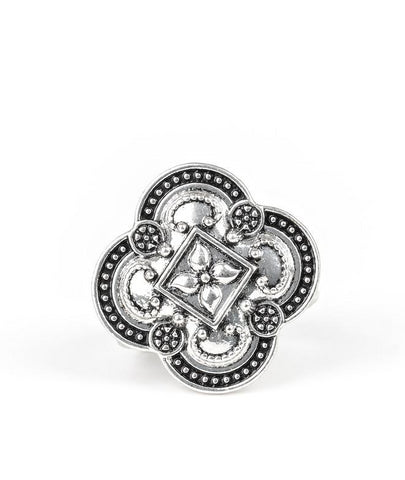 Paparazzi Your Royal Rogue-ness - Silver Antiqued Ring