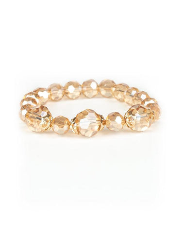 "Paparazzi Accessories - Paparazzi ""Crystal Collision"" - Gold - Bracelets"