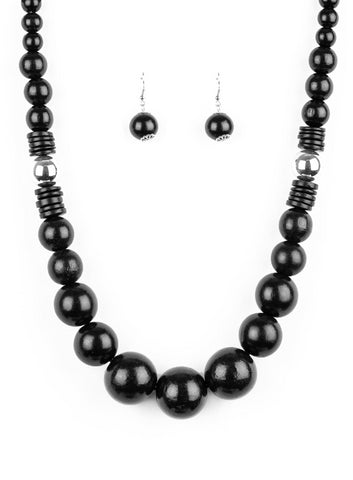 "Paparazzi Accessories - Paparazzi ""Panama Panorama"" - Black - Necklaces"
