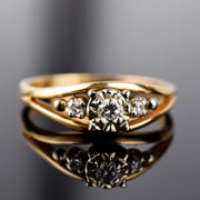 Vintage DIamond Trinity Ring for sale, canada, folklor