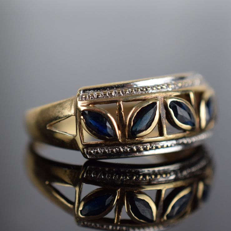 Vintage Leafy Sapphire Band for sale, canada, folklor