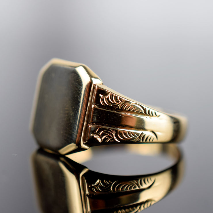 Antique Signet Ring, Hallmarked Birmingham, Folklor