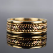 Tri-Coloured Rope Ring
