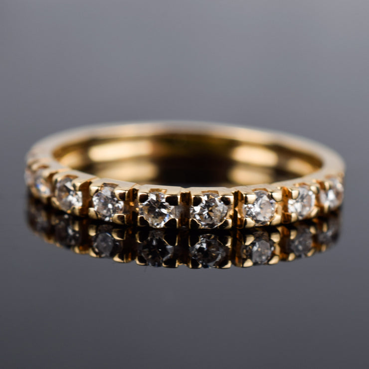 Rose gold half eternity vintage ring