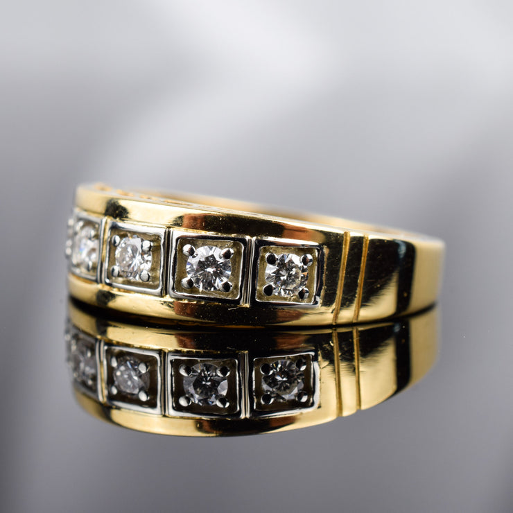 Antique half eternity band