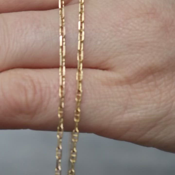 "Dainty Mariner Link Necklace (16"")"