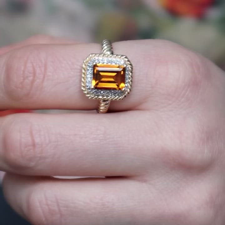Bold Yellow Topaz Ring