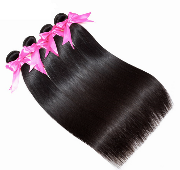 Peruvian Straight Hair Extension Human Hair Bundles 100% Remy 4 Bundles Hair Weaves Nature Color Hair Bundles