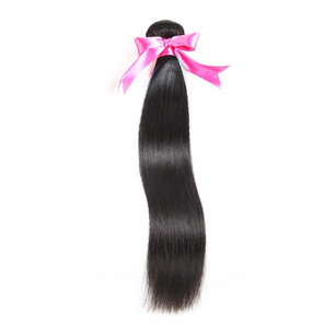 Malaysian Straight Hair 100% Human Hair Bundles Non-Remy Hair Extension Natural Color Can Buy 3 or 4 Bundles