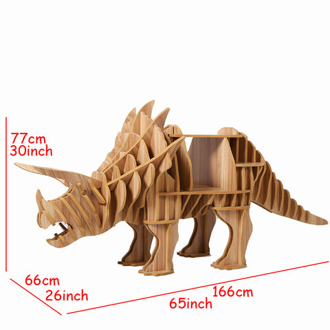 1 set 30*65inch Wooden Triceratops Dinasaur Side Table / Sideboard For Art Home Decoration
