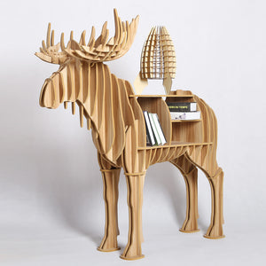 1 set 48 Inch IWood Large Wooden Elk Deer DIY Table Wood Craft For Home and Garden Decoration