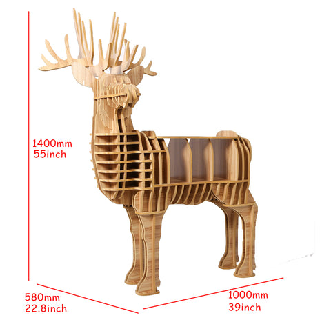 High-end Creative Wood Deer Table Furniture For Home Living Room Hotel Salon Decoration