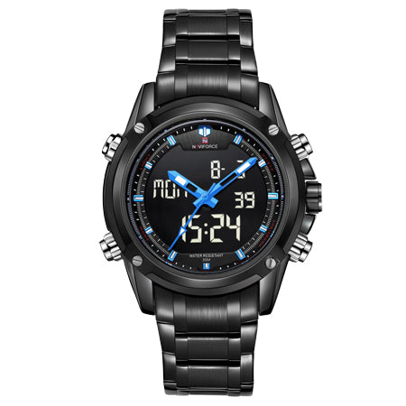 Men's Quartz Digital Army Multi-function Clock