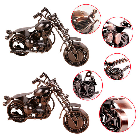 Creative Handmade Motorcycle Model Toys Metal Motorbike Model Toy For Men Gift Home Decor