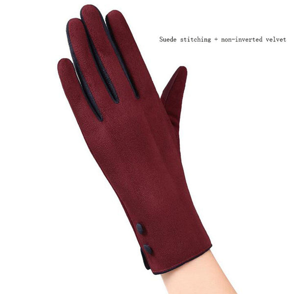 New Fashion Elegant Ladies Touch Screen Warm Lace Gloves