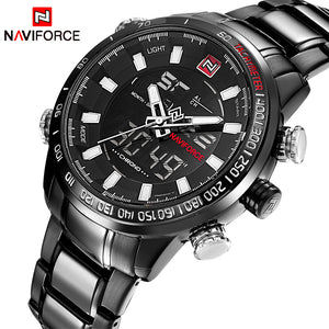 Men Full Steel Sport Watches Men's Quartz