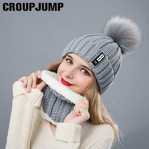 Fashion Winter Hat&Scarf Set For Women