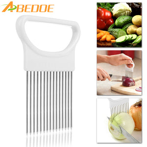 1Pcs Onion Cutter Slicer Stainless Steel Vegetable Slicer