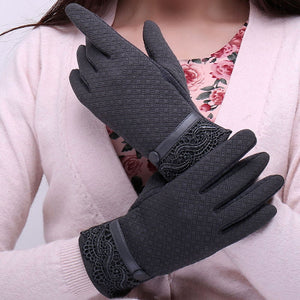 Winter Sporting Warm Full Finger Gloves Mittens Cashmere