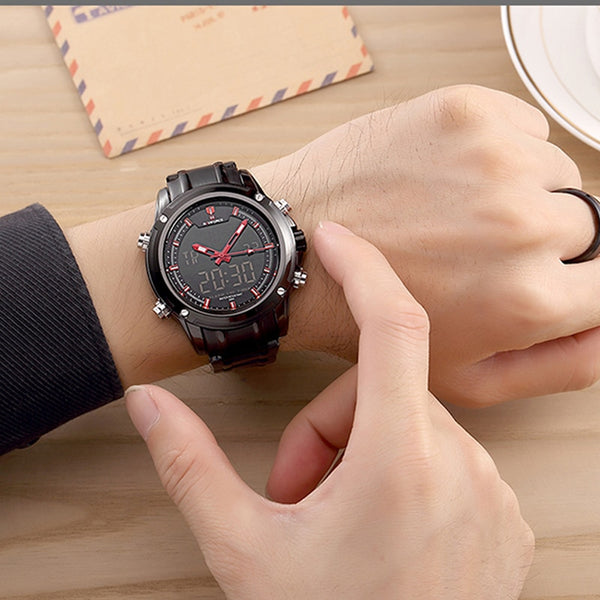 Men Military Waterproof LED Sport Watches