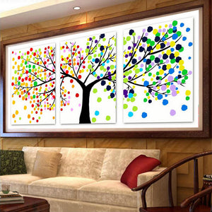 DIY DMC counted cross stitch printed on canvas Kits four seasons beauty chinese triptych cross stitch kits for embroidery