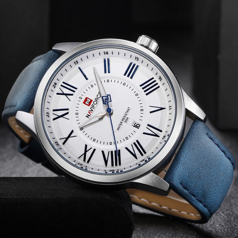 Wrist Watches Sport Waterproof Quartz Watch Leather Strap