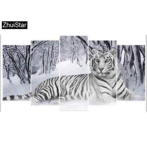 "Zhui Star 5D DIY Full Square Diamond Painting ""beauty beast"" Multi-picture Combination Embroidery Cross Stitch Mosaic Decor"