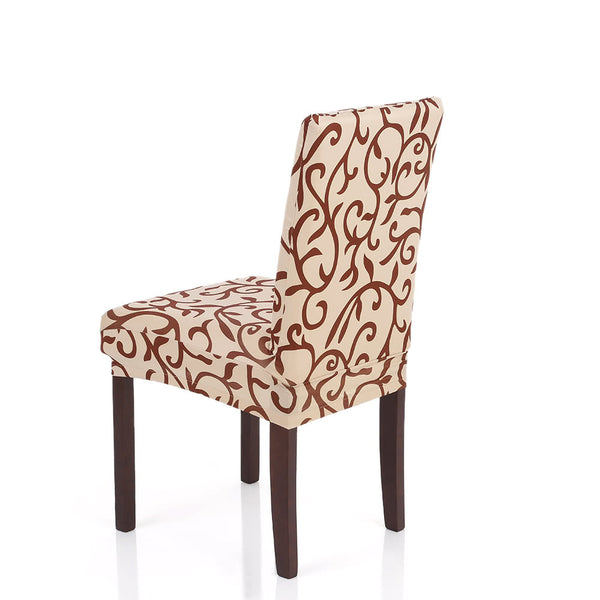 High Quality Stretch Removable Washable Short Dining Chair Cover Soft Milk Silk Spandex Printing Chair Cover Slipcover for Wedding Party Hotel Dining Room Ceremony Chair Seat Covers