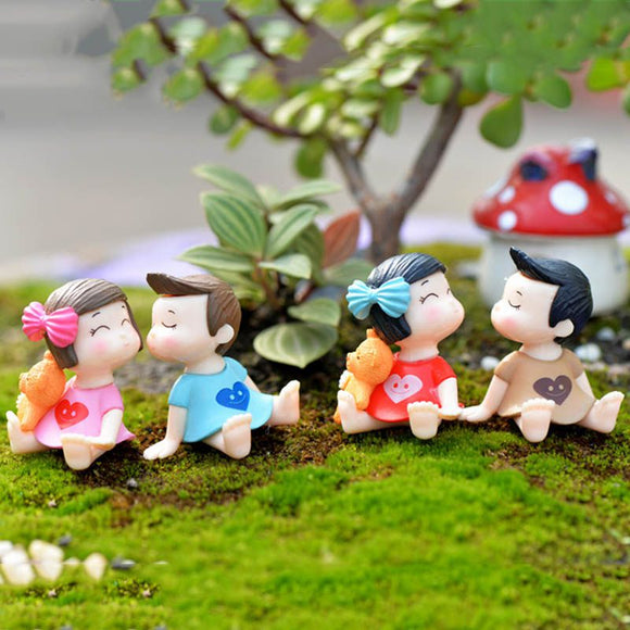 Boys and Girls Miniature Fairy Figurines Action Toy Figures Micro Landscape Accessories Terrarium Succulents Decoration