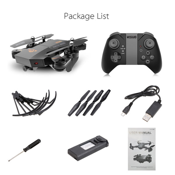 XS809W Upgraded Version XS809HW 2.4G Foldable RC Quadcopter Wifi FPV Selfie Drone