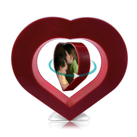 Floating Photo Frame Red Heart Magnetic Suspension Photo Frame Home Office Decoration