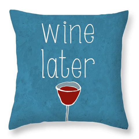 Coffee Or Wine II Throw Pillow
