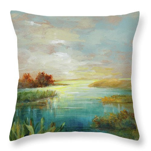 Sound Of Sunrise Throw Pillow